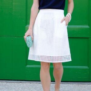 Loft Geo Eyelet Skirt